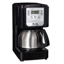 Mr. Coffee® Advanced Brew 5-Cup Programmable Coffee Maker with Stainless Steel Carafe Black/Chrome