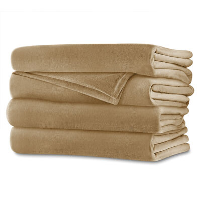 Sunbeam® Full Royalmink™ Heated Blanket, Honey