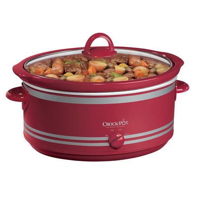 Crock-Pot® 7-Quart Manual Slow Cooker with Travel Bag, Red
