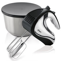 Oster® 6 Speed Hand Mixer with Mixing Bowl, Black