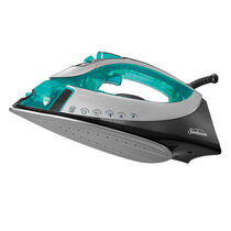 Sunbeam® turbo STEAM™ Iron, Green, Silver & Black Chrome