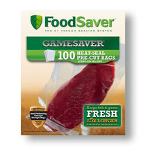 "FoodSaver® GameSaver® 8""x11"" Quart Heat-Seal Bags, 100 Count"