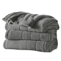 Sunbeam® King Channeled Microplush Heated Blanket, Slate