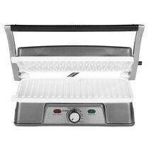 Oster® DuraCeramic™ Infusion Series 2-in-1 Panini Maker and Grill, Charcoal