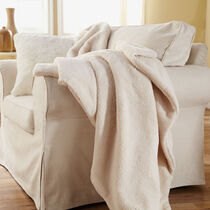 Sunbeam® Oversized Sherpa Heated Throw, Natural