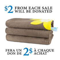 Sunbeam® Canadian Cancer Society Microplush Heated Throw