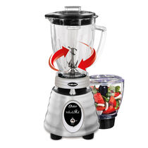 Oster® Heritage Blend™ 1000 Whirlwind™ Blender PLUS Food Chopper - Brushed Stainless - Glass Jar