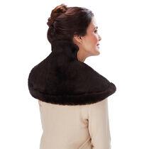 Sunbeam® Posh Renue® Tension Relief Wrap, Faux Fur Brown Mink