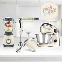 Pick & Mix Collection, Cream - Hand Mixer, Jug Blender, Hand Blender & Food Mixer