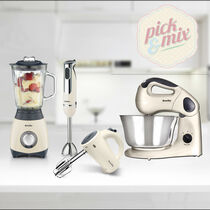Pick & Mix Collection, Cream - Hand Mixer, Jug Blender, Hand Blender & Food Mixer