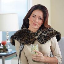 Sunbeam® Posh Renue® Tension Relief Wrap, Faux Fur Cheetah