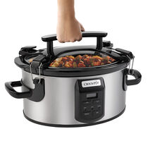NEW! Crock-Pot® Single Hand Cook & Carry® 6-Quart Oval Slow Cooker