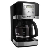 Mr. Coffee® Advanced Brew 12-Cup Programmable Coffee Maker with Permanent Filter, Black/Chrome, JWX27PFWF