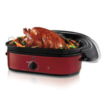 Oster® 18-Quart Roaster Oven with Self-Basting Lid, Red, CKSTRS18-RSB-W