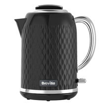 Curve Jug 1.7L Jug Kettle, Black with Chrome