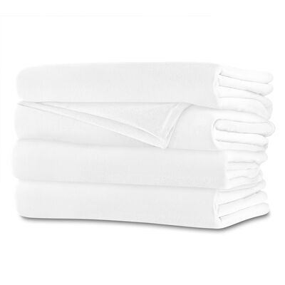 Sunbeam® King Royalmink™ Heated Blanket, Winter White