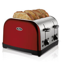 Oster® 4-Slice Toaster, Red Metallic
