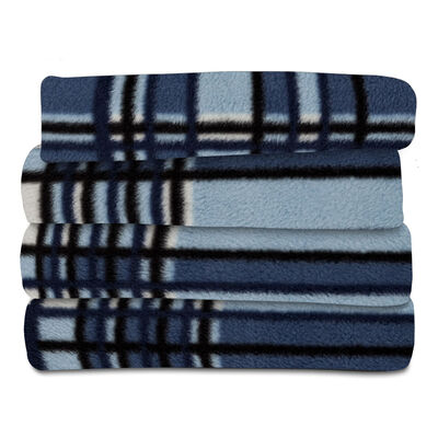 Sunbeam® Fleece Heated Throw, Monterey Plaid Lagoon
