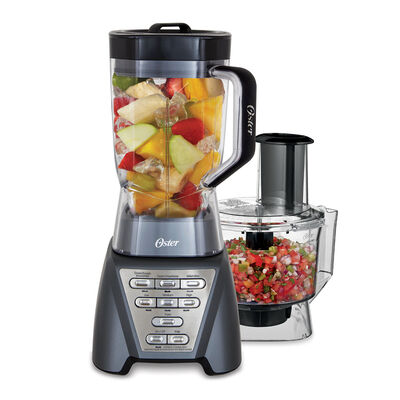 NEW Oster Pro®  1200 Plus Food Processor - Metallic Grey - BPA-Free TRITAN™ Jar