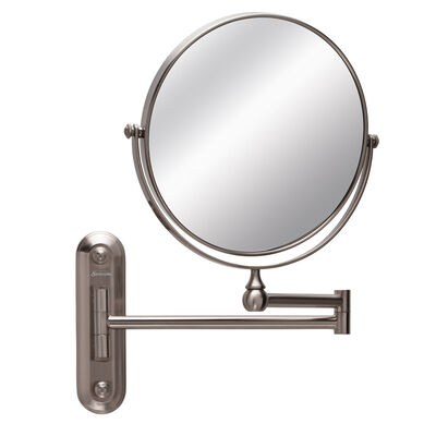Sunbeam® Circular Wall Mount Mirror, Brushed Stainless Steel