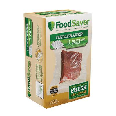 """FoodSaver® GameSaver® 11"""" x 16' Vacuum-Seal Rolls, 6 Pack"""