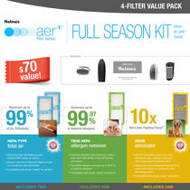 Holmes® aer1® Full Season Kit, 4-Filter Value Pack