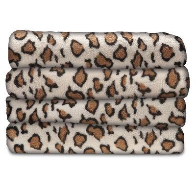 Sunbeam® Microplush Heated Throw, Leopard Print