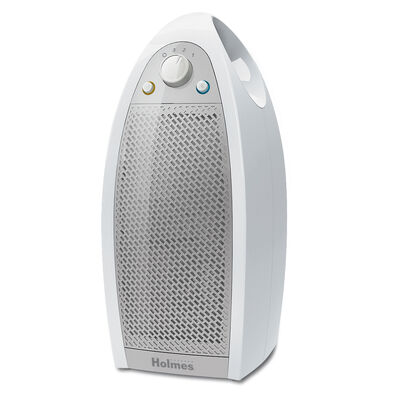 Holmes® Mini-Tower Air Purifier with HEPA-Type Filter in White