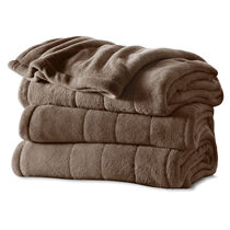 Sunbeam® Queen Velvet Plush Heated Blanket, Cocoa