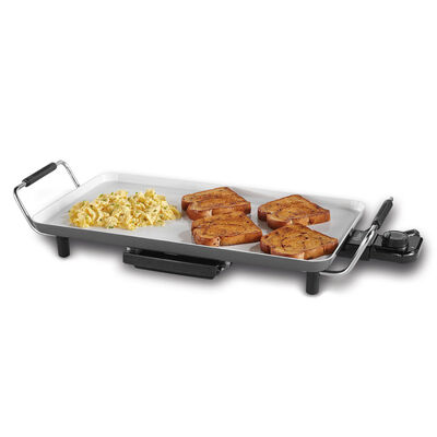 "Oster® DuraCeramic™ 10"" X 18"" Electric Griddle, with Metal Handles"