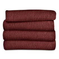 Sunbeam® Fleece Heated Throw, Garnet