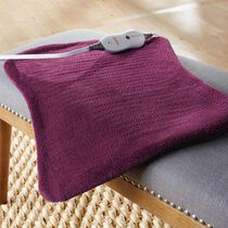 Sunbeam® XpressHeat™ XL Hourglass-Shaped Heating Pad, Eggplant