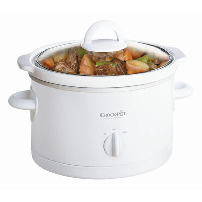 Crock-Pot® 2.5-Quart Manual Slow Cooker, White