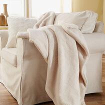 Sunbeam® Oversized Sherpa Heated Throw, Natural