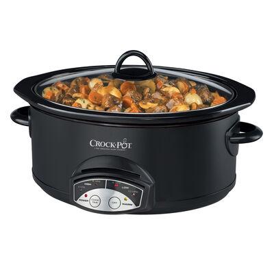 Crock-Pot® Smart-Pot™ 5Qt. Oval Programmable Slow Cooker, Black
