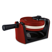Oster® Titanium Infused DuraCeramic™ Flip Waffle Maker - Candy Apple Red
