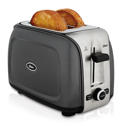 Oster® Designed to Shine™ 2-Slice Toaster, Charcoal