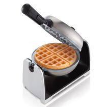 Oster® Titanium Infused DuraCeramic™ Stainless Steel Flip Waffle Maker
