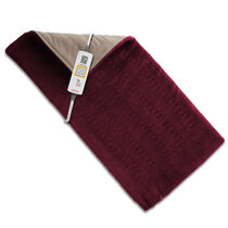 Sunbeam® King Size XpressHeat™ Heating Pad, Burgundy