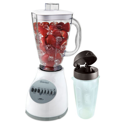 Oster® Accurate Blend™ 100 Plus with Blend-N-Go® Cup, White