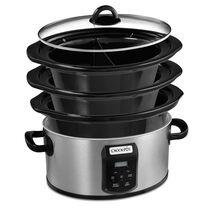 Crock-Pot® Choose-A-Crock 2,4,6 Qt. Oval Programmable Slow Cooker, Stainless