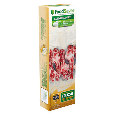 "FoodSaver® GameSaver® 15"" x 20' Vacuum-Seal Long Rolls, 2 Pack"