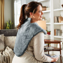Sunbeam® Massaging XL Renue® Heat Therapy Neck & Shoulder Wrap, Slate