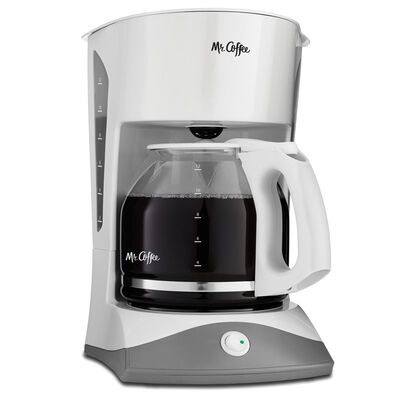 Mr. Coffee® Simple Brew 12-Cup Switch Coffee Maker White, SK12-RB