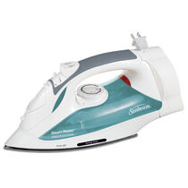 Sunbeam® Steam Master® Iron with Retractable Cord, White & Green