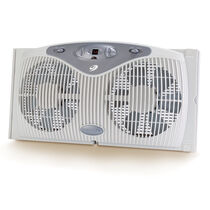 Bionaire®  Twin Window Fan with Digital Thermostat