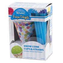 Rival™ Snow Cone Cups & Straws