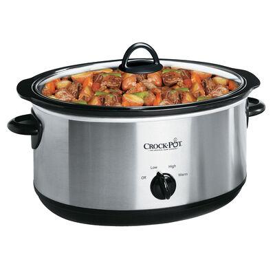 Crock-Pot® 7-Quart Manual Slow Cooker, Silver