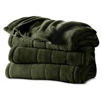 Sunbeam® King Velvet Plush Heated Blanket, Olive