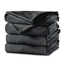 Sunbeam® Velvet Plush Heated Blanket, Slate